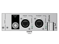 Soundcraft VI-Dante Card   Soundcraft VI-Dante Card   Adequado para o Vi-Compact Stagebox e o VI-Local Rack (formato D21m)    Com 2 conectores RJ45