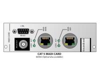 Soundcraft Vi Series Madi Card   Soundcraft Vi Series Madi Card   Cartão MADI    Placa plug-in para mixer digital Soundcraft VI ou rack local    Adequado para Expansão VI 1 / VI4 / VI4 MADI com até 64 canais a 48 KHz    32 canais a 96 kHz    2 conectores RJ45 para AUX e Main