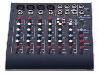 """Studiomaster C2-4   8 Canais: 4x preamp de micro, 2x Linha Stereo;  Saída Main Mix em Jack TRS 6.35mm (1/4"""");  Entrada para mp3 em Jack TRS 3.5mm (1/8"""");"""