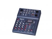 Studiomaster Club XS 5  Mezclador de 5 canales  Tarjeta USB / SD para grabación / reproducción  Bluetooth  Efecto de eco  Ecualizador de 3 bandas en el canal del micrófono  Filtros de paso alto y compresión ajustable en el canal del micrófono.
