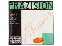 Thomastik 524 Precision Violin 1/2  -Cordas para violino Thomastik  -Precisão  -Núcleo sólido em aço  -Lá enrolado em aço cromado  -Para violino de tamanho 1/2  -Conjunto de 4 cordas
