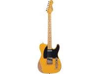 Vintage Icon V52MRBS  Guitarra elétrica 6 cordas Vintage ICON V52 series, corpo em american alder, braço em hard maple (parafusado), escala em maple, 22 trastes, marcação black dot, captadores e tarraxas Wilkinson®.