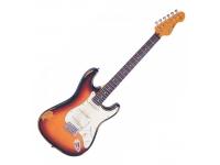 Vintage Icon V6MRSSB   Guitarra elétrica 6 cordas Vintage Icon V6 series  corpo em eastern poplar  braço em hard maple (parafusado)  escala em rosewood ou maple  22 trastes  marcação dot  captadores Wilkinson®  tarraxas Wilkinson®  Construção Bolt-On braço parafusado