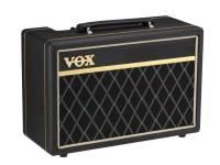"""Vox  10B  O Vox clássico aparece em um amplificador de baixo compacto com tom versátil.  Do pano da grade de diamante e do envoltório de vinil de tecer de cesta para os botões vintage de cabeça de frango, o Vox Pathfinder Bass 10 mostra seu pedigree Vox. Apesar do seu design compacto, o Pathfinder Bass 10 possui 10 watts de potência, empurrando um par de altifalantes Vox Bulldog de 5 """"para um som de baixo poderoso.    Além dos controles Bass e Treble, o interruptor Bright adiciona um impulso nervoso aos harmônicos superiores. Ao aumentar o controle do Drive, é proporcionada uma distorção de baixo quente e moderna que acrescenta caráter e vitalidade ao tom. Também é fornecida uma tomada de saída de fone de ouvido / linha para prática silenciosa e para gravação direta."""