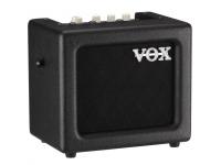 Vox  Mini 3 G2 BK  Diseñados para el guitarrista en movimiento, los amplificadores VOX MINI ofrecen una gran cantidad de características en un paquete compacto y portátil. Con el diseño y la apariencia de los amplificadores VOX clásicos, los amplificadores VOX MINI son una solución excelente y práctica mientras estás en la carretera y proporcionan una manera fácil y elegante de llevar tu música a la calle. ¡Disponibles en variedades de 3 y 5 vatios, los amplificadores VOX MINI tienen varios modelos de amplificación cuidadosamente desarrollados y varios efectos internos de alta calidad!