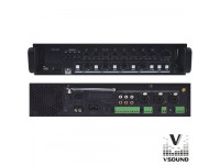 VSOUND  Amplificador PA 12/230V 3 Entradas 120W Mp3/USB/SD/BT