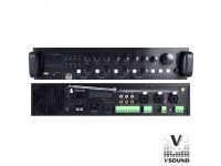 VSOUND  Amplificador PA 12/230V 3 Entradas 360W Mp3/USB/SD/BT