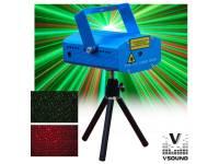 Lasers VSOUND LASERMINI130  Laser 130MW Vermelho e Verde STAR