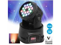 Moving Head LED VSOUND LEDMV183RGB