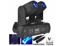 VSOUND LEDMV210RGBW  Cabeza móvil Doble 2 LEDS 12W Doble DMX MIC VSOUND LEDMV210RGBW