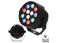 Projector LED PAR VSOUND VSPROJ123RGBW  Projector PAR com 12 LEDS 3W CREE RGBW DMX MIC