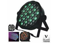 Projector LED VSOUND VSPROJ543RGBW  Projector de Luz com 54 LEDS 1W RGBW DMX