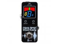 """XVive PT-05  XVIVE PT-05 Tuner Pedal  Rango de sintonización: B0-B7  Precisión: +/- 1cent  Calibración: 436-445Hz (paso de 1Hz)  Entrada: conector de entrada de 1/4 """"  Salida: 1/4 """"Jack de salida  Potencia: adaptador DC 9V  Dimensiones: 46 (w) * 94 (D) * 50 (H) mm  Peso: 300 g (incluida la batería)"""