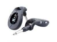 XVive Wireless System U2 Grey   XVive Wireless System U2 Black  Instrumento: Guitarra, Baixo e Violão  Inclui: 1 transmissor e 1 receptor  Faixa de transmissão: Até 100 pés line-of-sight  Tempo de atraso: 6 ms    Resposta de freqüência: 10Hz-20kHz    Número de canais compatíveis: 6    Delta Sigma: 24-bit    Transmissão: 2,4 GHz
