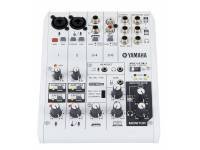 """Yamaha AG-06 B-Stock  Mesa de Mistura AnalógicasYamaha AG-06 - 6 canais interface áudio USB - Função LOOPBACK - Alta resolução (24-bit192kHz) de 2-faixas - Preamp microfone """"D-PRE"""""""