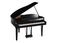 Yamaha CLP-695GP   Teclado de madeira GrandTouch  cobertura das teclas em marfim e ébano sintético  Linear Graded Hammers  amostras dos pianos CFX  Bösendorfer Imperial e C7  VRM  Ritmos  Bluetooth  Estilo piano de cauda