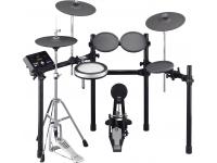 Yamaha DTX532K    Bateria Digital Yamaha DTX532K  Material: Pads Tarola em Silicone (TCS) e Timbalões em borracha  Pads: 8 (1x Bombo, 1x Tarola, 3x Timbalões, 2x Pratos, 1x Hi-Hat)  Sons: 691 de bateria e percussão; 128 melodias; Kits de bateria: 50  Memória: Funções de treino: Measure break, Groove check, Rhythm gate; Mémoria: Kits de bateria de utilizador: 50 (até 1MB).  Song: Demo: 1; Treino: 37; Pad: 22; User: 40.  USB: 1x Ligação a computador USB.
