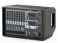 Mesas de Mistura com Amplificação Yamaha EMX-212S  Efectos: ecualizador estéreo de 7 bandas  16 efectos multiefectos digitales SPX. Electrónica: EQ (25, 250, 500, 1 k, 2 k, 4 k, 8 kHz), alta media baja.  Canales: 8 mono + 4 estéreo.  Potencia máxima: 440W.  Potencia: 220 vatios a 4 Ω; 130 vatios a 8 Ω.