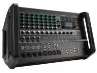 Yamaha EMX 5  Yamaha EMX 5  Respuesta de frecuencia: entrada SPEAKER: +1 dB / -3 dB (40 Hz a 20 kHz), entrada para STEREO OUT, SEND AUX1, AUX2 SEND: 0.5 dB / -1 dB (20 Hz a 20 kHz), consulte el nivel de potencia nominal a 1 kHz  Mezclador analógico amplificado, con 12 entradas (8 mono y 4 estéreo)  4 conectores combinados (compatibles con XLR y P10)  4 conectores XLR y 4 conectores P10. 2x 630W [4O], 2x 460W [8O] (1kHz THD + N menos del 10% CEA2006) o 2x 500W [4O], 2x 370W [8O] (1kHz THD + N menos del 1% CEA2006)  5 salidas, incluidas 3 estéreo (SPEAKER OUT amplificado, MONITOR OUT, REC OUT) y 2 mono (AUX1 SEND y AUX2 SEND)  Entrada compatible con instrumentos de alta impedancia (HI-Z) en el canal 4  Ecualizador de 3 bandas (ALTO, MEDIO, BAJO). Compresor de 1 perilla (en los canales 1 a 4)  Procesador de efectos SPX con 24 programas. Potencia fantasma general (+ 48V). Eliminador de micrófono (retroalimentación de supresor)  Fuente de alimentación universal (100 - 240V)  Diafonía: -85 DB (1 kHz, medido con filtro de paso de banda de 1 kHz)