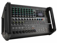 Yamaha EMX 7  Yamaha EMX 7  Respuesta de frecuencia: entrada SPEAKER: +1 dB / -3 dB (40 Hz a 20 kHz), entrada para STEREO OUT, SEND AUX1, AUX2 SEND: 0.5 dB / -1 dB (20 Hz a 20 kHz), consulte el nivel de potencia nominal a 1 kHz  Mezclador analógico amplificado, con 12 entradas (8 mono y 4 estéreo)  4 conectores combinados (compatibles con XLR y P10)  4 conectores XLR y 4 conectores P10. 2x 710W [4O], 2x 500W [8O] (1kHz THD + N menos del 10% CEA2006) o 2x 600W [4O], 2x 400W [8O] (1kHz THD + N menos del 1% CEA2006)  5 salidas, 3 estéreo (SPEAKER OUT amplificado, MONITOR OUT, REC OUT) y 2 mono (AUX1 SEND y AUX2 SEND) - Entrada compatible con instrumentos de alta impedancia (HI-Z) en el canal 4  Ecualizador de 3 bandas (ALTO, MEDIO, BAJO)  Compresor de 1 perilla (en los canales 1 a 4)  Procesador de efectos SPX, que incluye obsequios para altavoces Yamaha y ecualizador gráfico  Potencia fantasma general (+ 48V). Eliminador de micrófono (retroalimentación de supresor)  Fuente de alimentación universal (100 - 240V)  Diafonía: 85 DB (1 kHz, medido con filtro de paso de banda de 1 kHz)