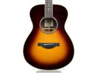 """Yamaha LL-TA TransAcoustic BS Brown Sunburst   Yamaha LL-TA TransAcousticBS Brown Sunburst  Forma do corpo: Yamaha Original Jumbo  Comprimento da escala: 650 mm (25 9/16"""")  Comprimento do corpo: 513 mm (20 3/16"""")  Comprimento total: 1046 mm (41 3/16"""")  largura do corpo: 415mm (16 5/16"""")  Profundidade do corpo: 100-125mm (3 15/16"""" - 4 15/16"""")  Largura da pestana: 44 mm (1 3/4"""")  Espaçamento das cordas: 11.0 mm  Material do tampo: Engelmann Spruce A.R.E. maciço  Material do fundo: Rosewood maciço  Material das ilhargas: Rosewood maciço  Material do braço: mogno + Rosewood 5 camadas  Material da escala: Ébano  Raio da escala: R400 mm (23 5/8"""")  Material da ponte: Ébano  Material da pestana: Urea  Material do pente: Urea  Pinos da ponte: ABS preto com ponto branco  Carrilhões: Fundidos, dourados (TM29G)  Frisos do corpo: Maple + Preto  Incrustação da boca de som: Abalone + preto + branco  Pickguard: Transparente  Acabamento do corpo: Brilhante  Acabamento do braço: Mate  Eletrónica: SYSTEM70 TransAcoustic Piezo Pickup  Controlos: Reverb (Room/Hall) / Chorus / TA Switch / Line Out Vol  Conexões: LINE OUT  Cordas: .012/.016/.025 (ou.024)/.032/.042/.053 (ou.052)  Acessórios: chave Hex, 2 pilhas AA  Estojo: rígido"""