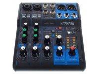 Mesa de Mistura Analógica Yamaha MG-06X  Mezclador de 6 canales  Máx.2 entradas de micrófono / 6 líneas (2 mono + 2 estéreo)  1 bus estéreo