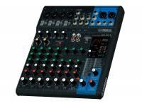Yamaha MG-10XU  Mezclador de 10 canales: máx.4 entradas de micrófono / 10 líneas (4 mono + 3 estéreo) / 1 bus estéreo / 1 AUX (incluido FX)