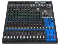 Yamaha MG-16XU  Yamaha MG-16XU con 16 canales Máx.  Entradas: 10 Mic / 16 Line (8 mono + 4 estéreo)  4 buses GROUP + 1 bus estéreo 4 AUX (incl. FX)
