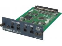 """Yamaha MY16AT  A placa MY16AT Mini-YGDAI Digital I/O pode ser usada com os equipamentos Yamaha DM2000, 02R96, DM1000 e consoles digitais futuros, permitindo usar até 16 canais simultâneos de I/O no formato AES/EBU (D-sub 25 pinos), usando um único slot de expansão. Todos os 16 canais podem ser usados independentemente com sample rate de até 48-kHz, ou a placa MY16AT pode ser usada na conexão com """"canal dobrado"""" em gravação de 96-kHz, permitindo o uso de 8 canais de I/O em 88.2 ou 96-kHz."""