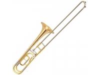 Yamaha Trombone  YSL356GE Dourado  Trombone Yamaha YSL356GE Dourado    Características:    -Lacado(ouro)  -Peso leve  -Vara emNickel Silver  -Campânulaem Gold Brass Ø 204.4 mm  -Calibre dual12.7 mm -13.34 mm  -Bocal calibre estreito 48