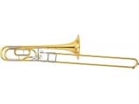 Yamaha Trombone  YSL620 Dourado  Trombone Yamaha YSL620 Dourado    Características:     -Lacado(ouro)  -Vara em Yellow Brass (exterior) e Nickel Silver (interior)  -Campânulaem Yellow Brass Ø 214.4 mm  -Calibre L 13.89 mm  -Bocal calibre largo 48L