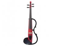 Yamaha Violino  SV130CAR Silent Vermelho  Violino Yamaha SV130CAR Silent Vermelho    Especificações:               -Pickup piezo  -Corpo:abeto  -Armação,queixeira e estandarte: plástico  -Entrada Aux  -Braço: ácer  -Diapasão e cravelhas: ébano  -Saída Linha  -Cordas Kessler  -Cavalete Aubert e micro-afinador na corda Mi  -Efeitos: reverb  -Fornecido com auscultadores, correia, cabo de áudio e pilhas