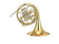 Yamaha YHR-320 II Bb-French Horn  3 válvulas  Sino médio  Chumbo de bronze de ouro  Articulação de bola  Novo gancho de dedo  Furo: 12 mm  Acabamento em laca de latão  Bocal 32C4 e estojo novo com alças de mochila incluídas