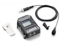 Zoom F1-LP  Zoom F1-LP Field Recorder con micrófono de solapa combina una grabadora de audio F1 de dos canales con un micrófono de solapa omnidireccional LMF-1. Ligero (4.2 oz) y con un diseño de bajo perfil, se adapta perfectamente a correas o correas y cabe dentro de los bolsillos sin ser visto, ofreciendo a los videógrafos, vloggers y periodistas una solución flexible para capturar audio de alta calidad. para video, sin importar qué tan lejos esté el sujeto de la cámara.