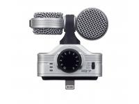 Kit de entrevista para iPhone Zoom iQ7  Com este microfone para iPhoneZoom iQ7, vão elevar o nível das vossas gravações. O áudio é tão importante, ou mais, que a imagem e este Zoom iQ7 proporciona uma melhoria significativa a quem quer uma ferramenta profissional sempre consigo.
