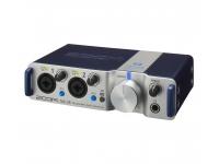 Zoom TAC-2R  Interfaz de audio compacta, ligera y portátil. Con conexión Thunderbolt, sin latencia y 192 KHz. Interfaz MIDI (entrada / salida). Entradas: 2x combinación de micrófono XLR / TRS.