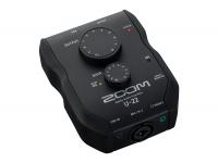 Zoom U-22    A Interface de áudio para você levar à qualquer lugar.    O U-22 é um gravador portátil e interface de performance essencial, com um inovador ultra-portátil design 2-in/2-out que torna mais fácil conectar a um laptop ou iPhone/iPad e criar grandes áudios em todo lugar.